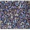 Seedbead 2/0 Transparent Crystal/Black Lined Aurora Borealis